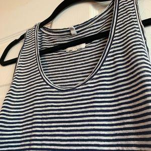 Lou & Grey Linen Blue/White Striped Tank